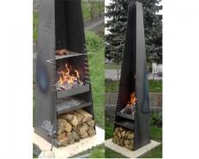 Feuerstelle – Kamin-Grill mit Edelstahlrost